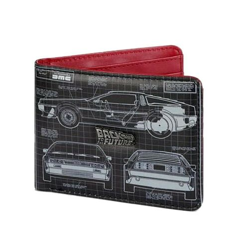 Back To The Future Blueprint DeLorean Bi-Fold Wallet